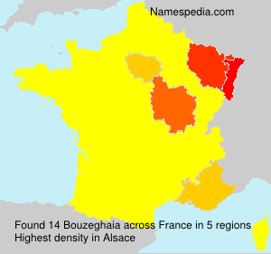 Surname Bouzeghaia in France