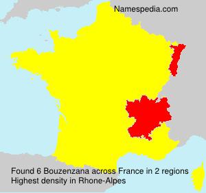 Surname Bouzenzana in France