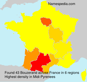 Surname Bouzerand in France