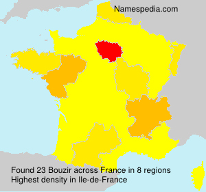 Familiennamen Bouzir - France