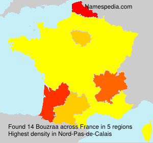 Surname Bouzraa in France