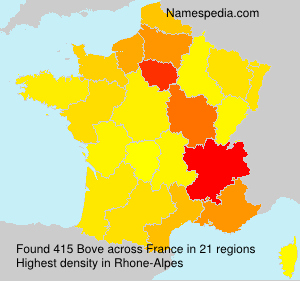 Surname Bove in France