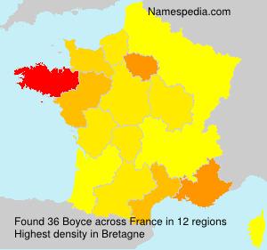 Surname Boyce in France