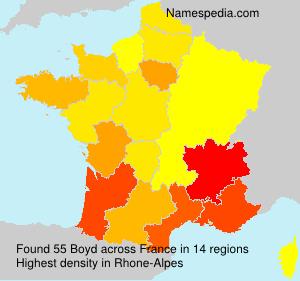Surname Boyd in France