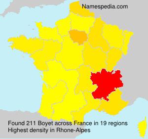 Surname Boyet in France