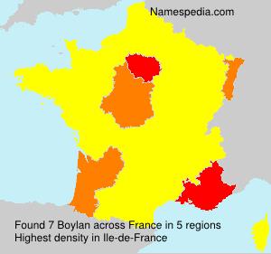 Familiennamen Boylan - France