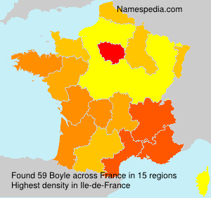 Surname Boyle in France