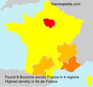 Familiennamen Bozzone - France