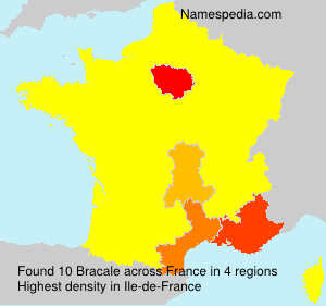 Surname Bracale in France