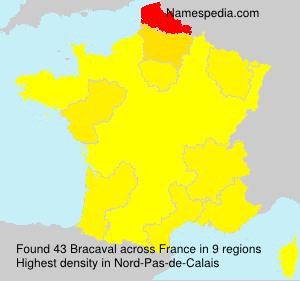 Surname Bracaval in France