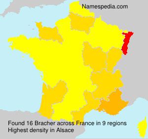 Surname Bracher in France