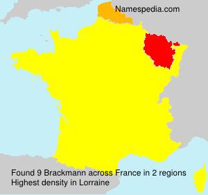 Surname Brackmann in France