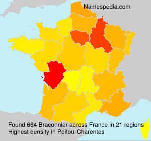 Surname Braconnier in France