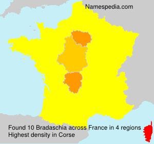 Surname Bradaschia in France