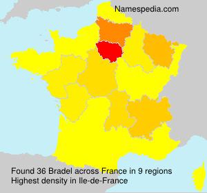 Familiennamen Bradel - France