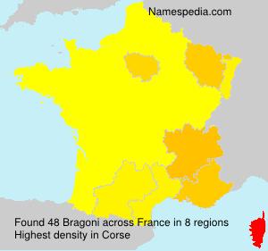 Surname Bragoni in France
