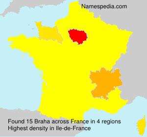 Surname Braha in France