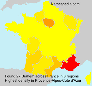 Surname Brahem in France
