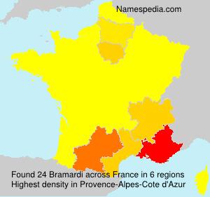Surname Bramardi in France