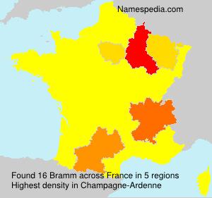 Surname Bramm in France