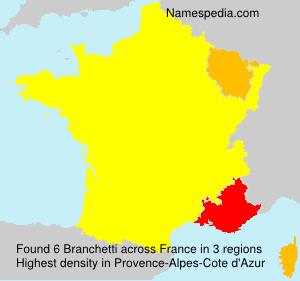 Surname Branchetti in France