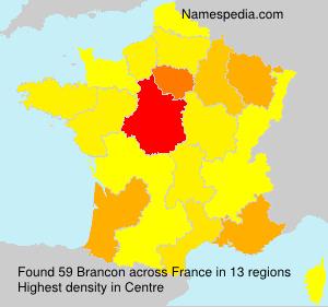 Surname Brancon in France