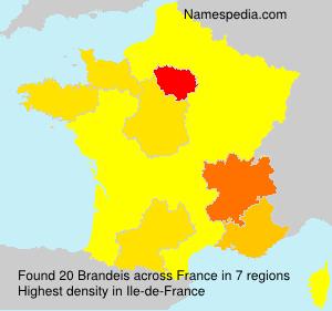 Familiennamen Brandeis - France