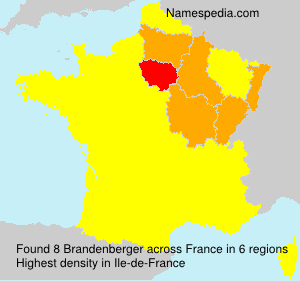 Familiennamen Brandenberger - France