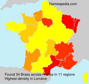 Surname Brass in France