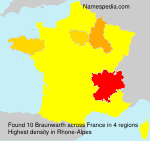 Surname Braunwarth in France