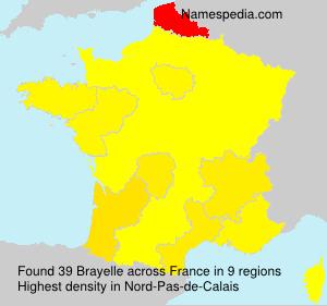Surname Brayelle in France