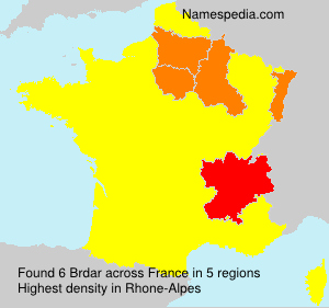 Surname Brdar in France