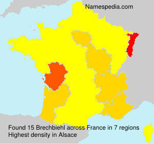 Surname Brechbiehl in France