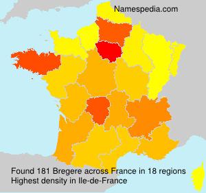 Familiennamen Bregere - France