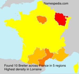 Familiennamen Breiter - France