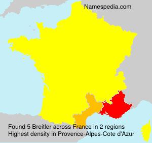 Surname Breitler in France