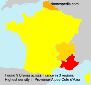Surname Brema in France