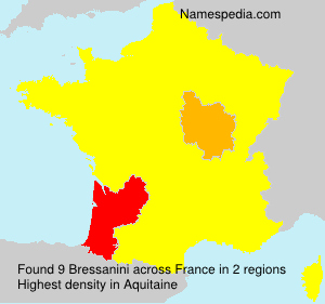 Surname Bressanini in France