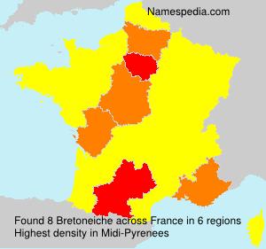 Surname Bretoneiche in France