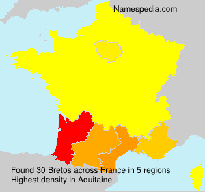 Surname Bretos in France