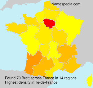 Surname Brett in France