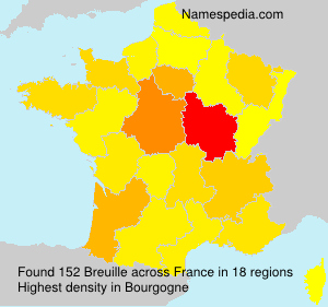 Surname Breuille in France