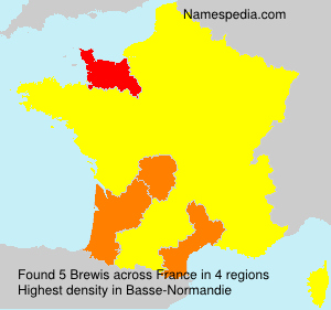 Surname Brewis in France