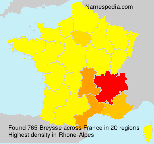Surname Breysse in France