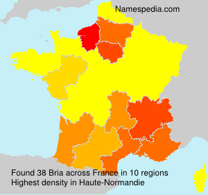 Surname Bria in France