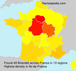 Familiennamen Briandet - France