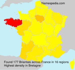 Familiennamen Briantais - France