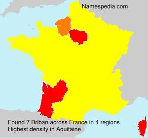 Familiennamen Briban - France