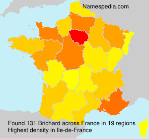 Surname Brichard in France