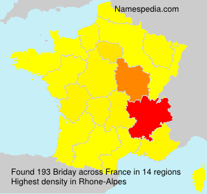 Surname Briday in France